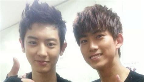 imagenes de ok taecyeon quot teeth rich quot 2pm s taecyeon and exo s chanyeol pose