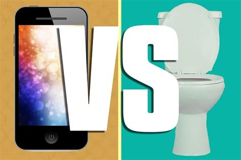 phone  toilet whats dirtier