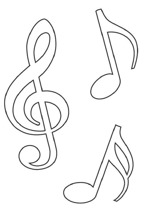musical notes template templates notes templates pictures templates