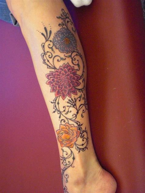 floral leg tattoo designs 60 best lower leg tattoos images on