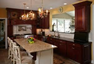 Granite Countertops With Cherry Cabinets What Granite Countertop Color Looks Best With Cherry Cabinets