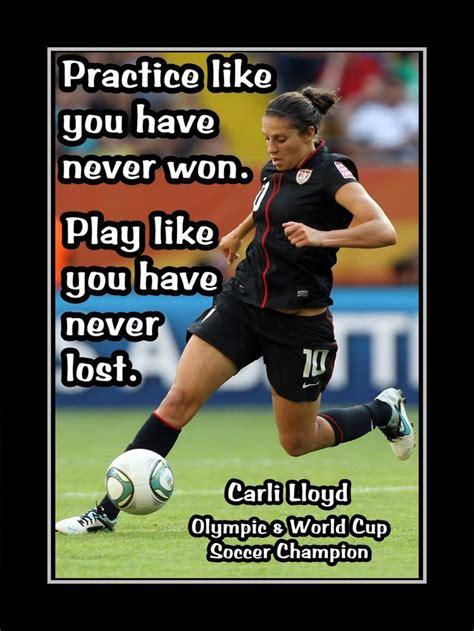 inspirational soccer quote wall art daughter  friend sister birthday gift carli lloyd wall