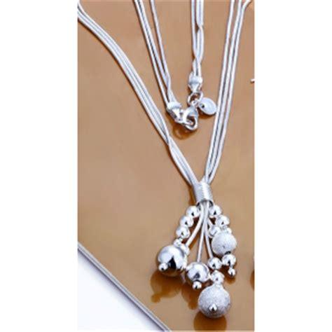 Liontin Bunga Cantik Perak 925 Lapis Emas Putih 18k info pernak pernik kalung perak liontin