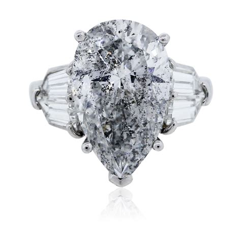 Pear Shaped Engagement Ring by Pear Shaped Platinum Engagement Ring Egl Certified