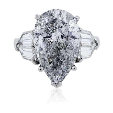 Pear Shaped Diamond Platinum Engagement Ring EGL Certified
