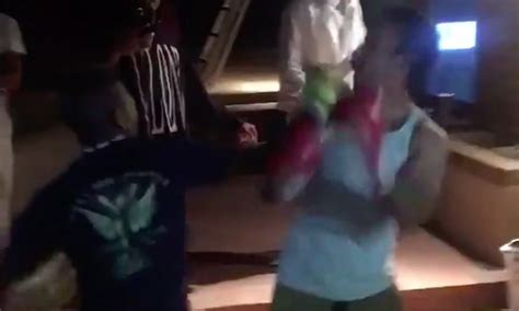 Backyard Boxing Match Ends Quickly With An Insane Knockout Video Total Pro Sports