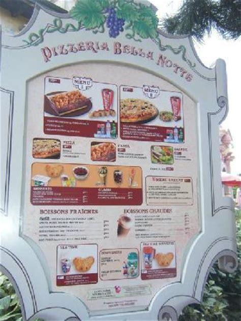 carte du restaurant picture of pizzeria bella notte