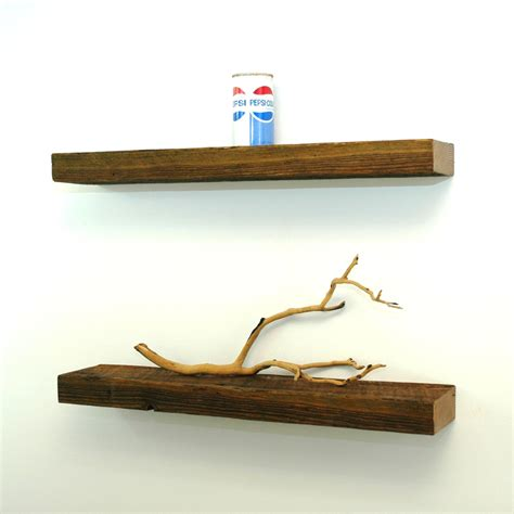 floating reclaimed wood shelves by christopheroriginal on etsy