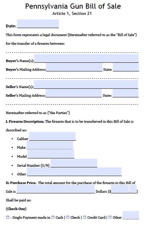 boats for sale washington pa free pennsylvania firearm bill of sale form pdf word