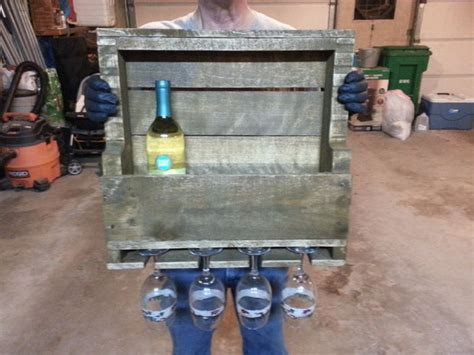 Make A Wine Rack Out Of A Pallet by Wine Rack Made Out Of A Pallet