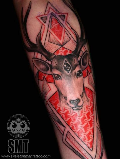 geometric tattoo oxford geometric stag tattoo by skeleton man tattoonow