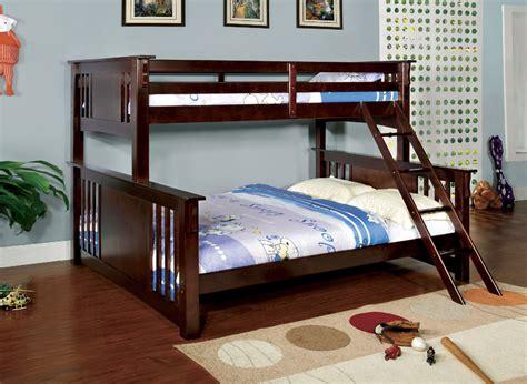 bunk bed twin over queen crestline twin xl over queen bunk bed in espresso kids