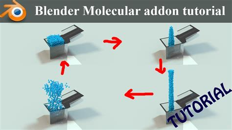 blender tutorial addon blender molecular addon tutorial cool particle effect