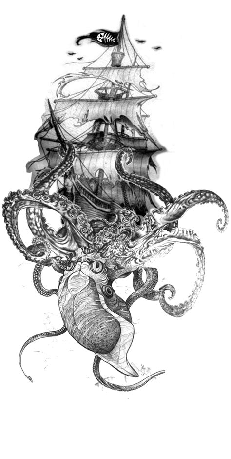 pirate tattoo design obsessed tattoos tattoos kraken