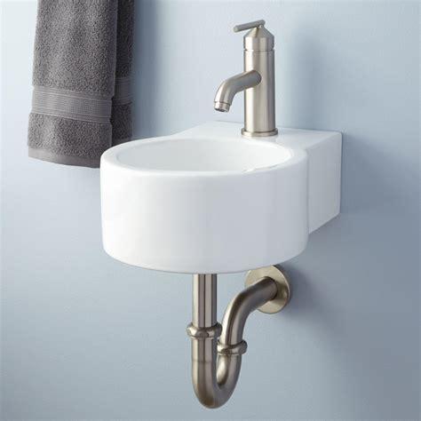 bathroom sink hardware signature hardware frida porcelain wall mount bathroom