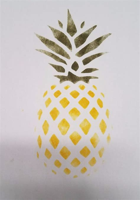 hawaiian pineapple oil board stencil ebay
