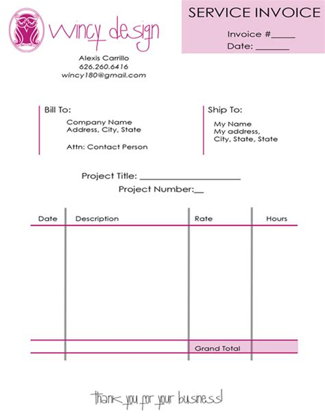 fancy invoice template invoices wincy
