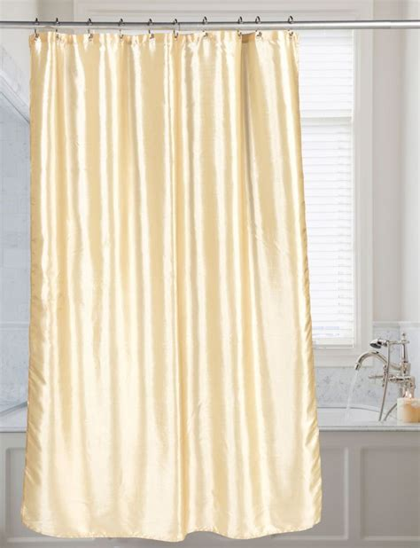 carnation shimmer faux silk shower curtain ivory shower