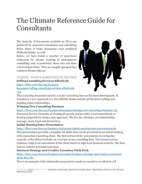 the ultimate reference guide for consultants