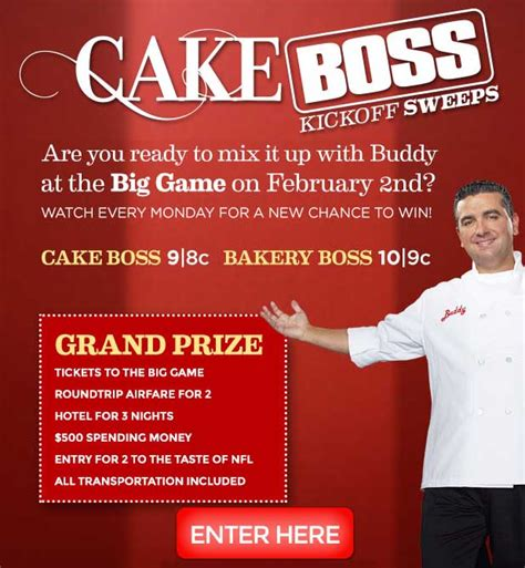 Cake Boss Sweepstakes - cake boss sweepstakes watch it win it all the trivia answers sweeps maniac