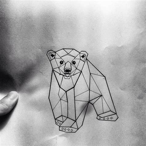 geometric bear tattoo geometric baby design tattooimages biz