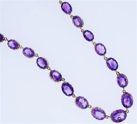 amethyst necklace furr co