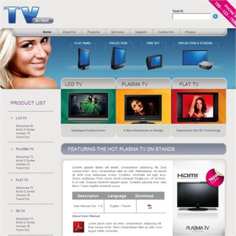 Tv Archade Template Free Website Templates In Css Html Js Format For Free Download 535 33kb Web Tv Template