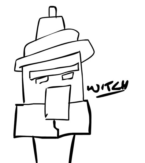 minecraft witch coloring pages minecraft witch sketches sketch coloring page