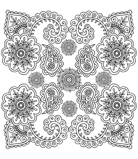 Anti Stress Batik Coloring Book For Adults 1 anti stress flowers zen and anti stress coloring pages for adults justcolor