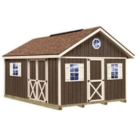 Home Depot Wooden Sheds by Best Barns Fairview 12 Ft X 16 Ft Wood Storage Shed Kit