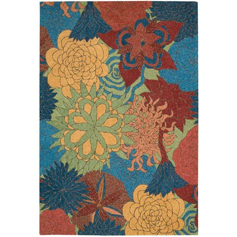 Nourison Overstock South Beach Deep Sea 5 Ft X 7 Ft 6 In Overstock Indoor Outdoor Rug