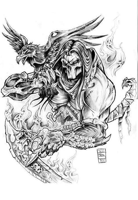 death tattoos designs gallery horseman