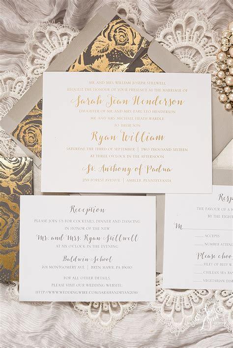 custom foil sted wedding invitations s modern floral gold foil wedding invitation suite april designs custom