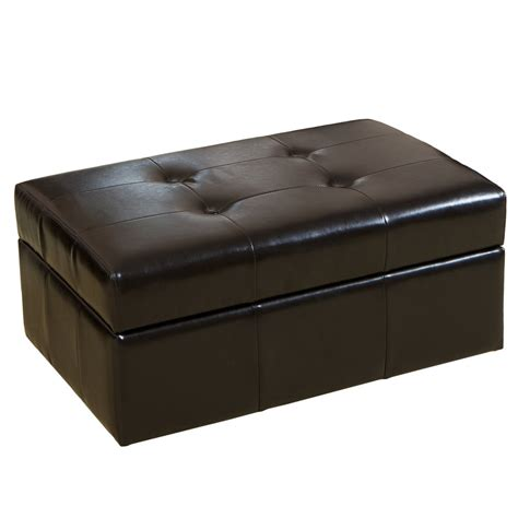 leather ottoman black black leather ottoman home design by ray