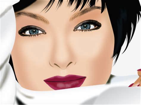 tutorial vector wajah dengan coreldraw membuat vector wajah dengan efek blur di coreldraw