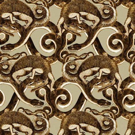 john scoles alligator & black snake (1796): reptile knots