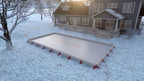 backyard mini r ez ice the 60 minute backyard rink youtube