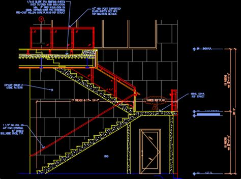 staircase section dwg file grand stair construction sheet cad files dwg files