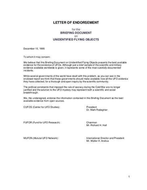 Endorsement Letter For Resolution 45708316 Rockefeller Briefing Document