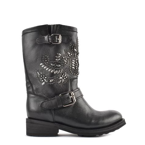 Buy Studded Tara Biker Boots From Ash Footwear In Black
