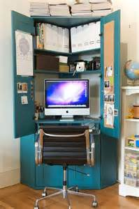 Small Corner Computer Desk With Doors 25 Best Ideas About Hideaway Computer Desk On Pinterest