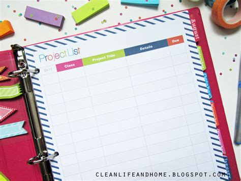 Study Planner Stripes clean and home giveaway 2014 2015 student planner in navy stripe closed