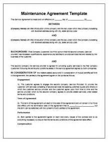 Contract For Service Template by Maintenance Agreement Template Microsoft Word Templates