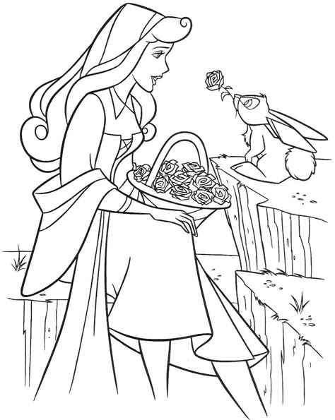 free printable sleeping beauty coloring pages for kids
