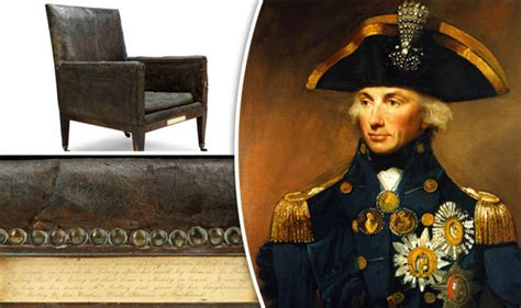 armchair admiral lord nelson s leather armchair from hms victory is for