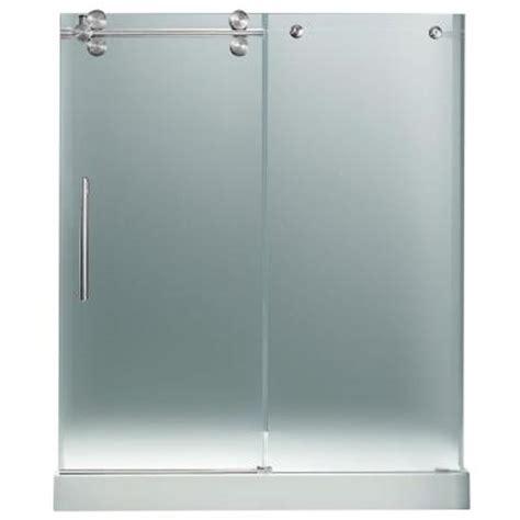 frameless shower doors home depot vigo 59 75 in x 74 in frameless pivot shower door in