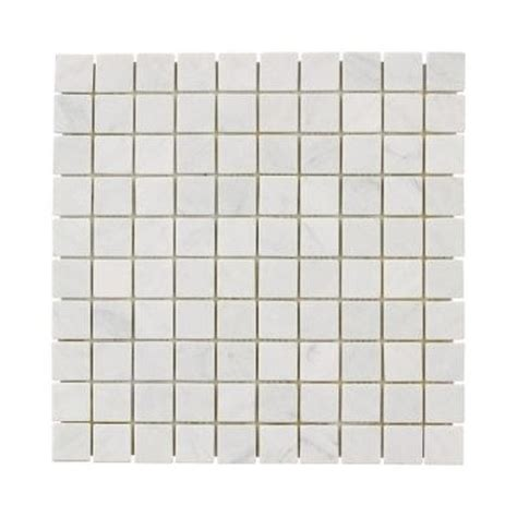 home depot wall tiles for bathroom jeffrey court carrara white mosaics 12 in x 12 in marble