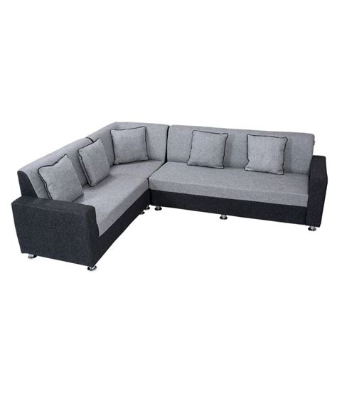sofa set in l shape bharat lifestyle cosmo plus fabric l shape sofa buy
