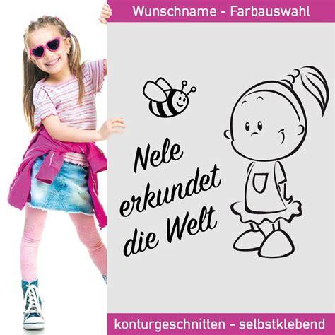 Auto Aufkleber Kind by Auto Aufkleber M 228 Dchen Mit Wunsch Namen Und Bienchen