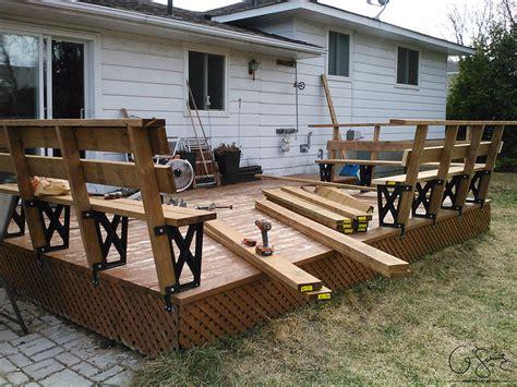 Corner Deck Bench Building A Corner Bench With Brackets Madness Amp Method